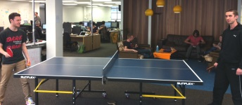 new office tabletennis couches
