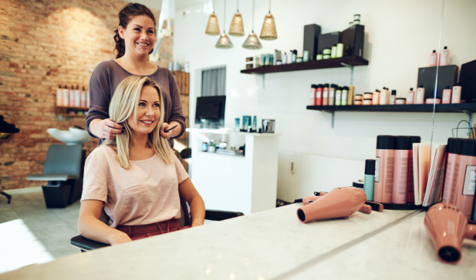 how to fill your appointment book for the New Year woman at salon