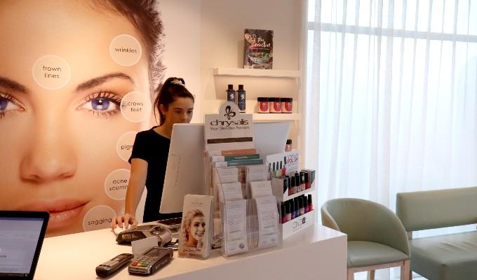 Chrysalis Skin Clinic reception