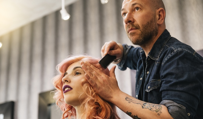 average client spend statistics for hair beauty industry